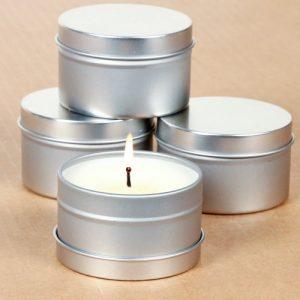 Aluminum Candle Tins
